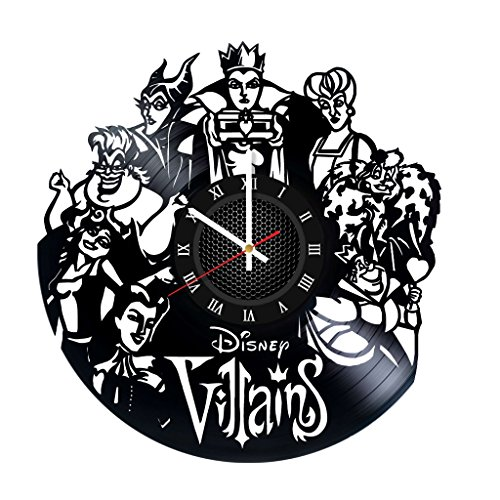 Disney Villains Vinyl Record Wall Clock . Get unique home room wall art decor. Cool gift ideas for boys, girls, kids, teens, men and women. ()