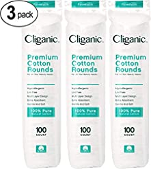 Cliganic Premium Cotton Rounds for Face ...