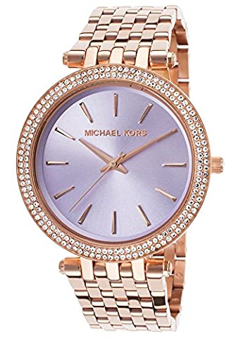 Michael Kors Women's MK3400 - Darci Rose Gold Watch (Purple Gold Watch)