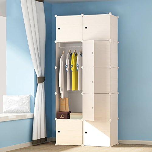 Spielzeug PREMAG Portable Garderobe f/ür h/ängende Kleidung modulare Schrank f/ür platzsparende Ideale Storage Organizer Cube f/ür B/ücher 16-W/ürfel, zus/ätzliche Aufkleber Enthalten Kombischrank