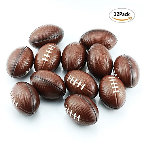 Etmact Soft Foam Mini Football Stress Balls For Kids 2.5'' Perfect for Small Hands, 12-pack