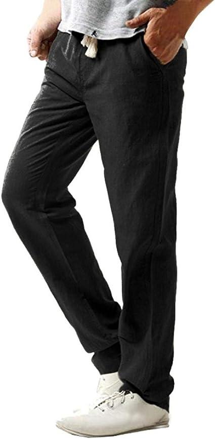 Pantaloni Tuta Uomo,Pantalone Tuta da Ginnastica Cotone Fruit of The Loom Pantaloni Leggeri Uomo con Fondo Largo Non Felpati Uomo Pantaloni di Base in Maglia XXL, Nero1