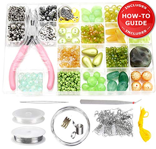 Modda Jewelry Making Supplies Kit - DIY Beading Kits for Teen Girls, Beginners, Mom, Teens Arts and Crafts - Includes All Tools, Beads, Charms and Instructions to Make Bracelets, Necklaces, Earrings ()