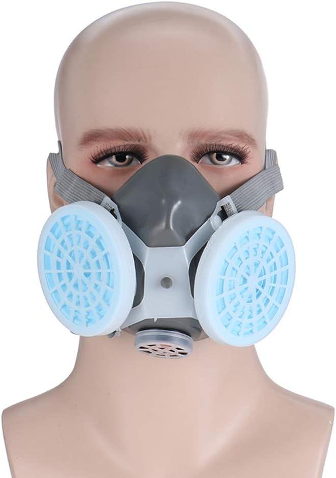 Hcyai Face Shield, máscara de Gas de Media Cara, máscara química contra el Polvo, Filtro de protección respiratoria para Pintar, Accesorio Industrial