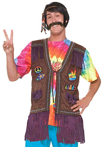 Forum Unisex Generation Hippie Peace Vest,Multi,Standard