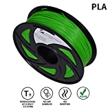 LEE FUNG 1.75mm PLA 3D Printing Filament Dimensional Accuracy +/- 0.05 mm 2.2 LB Spool DIY Material Tools (Green)