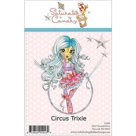 Little Darlings Saturated Canary CANDY CANES Clear Stamp