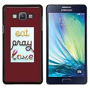 Stuss Case / Funda Carcasa protectora - Oren Cita Roja Cita del amor de texto - Samsung Galaxy A7 ( A7000 )