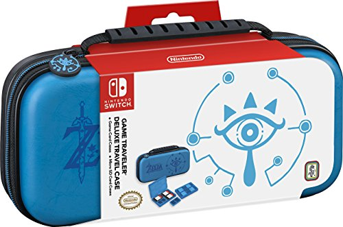 (Nintendo Switch Game Traveler Deluxe Travel Case- Zelda Breath of the Wild - Sheikah Eye - Blue (Discontinued by Manufacturer))