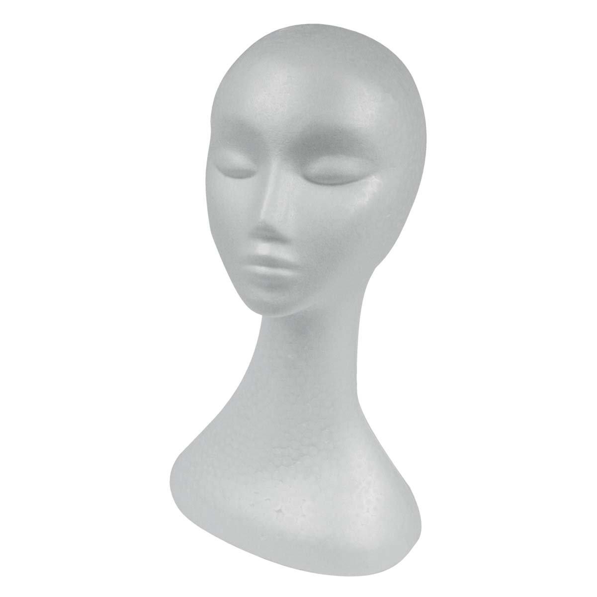 Testa in polistirolo per parrucche, extra-altra