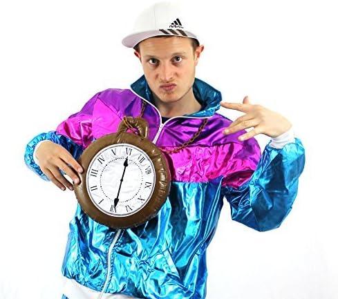 JUMBO CLOCK Medallón Disfraz Hinchable Accesorio Grande Reloj Con ...