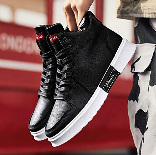autunno Sneakers Nero Ciclismo Da Dimensione Per Primavera Scarpe Comfort In Scarpette 39 colore Microfibra Nero Scarpa La Uomo Piatta Hy 4wvPnqHFn