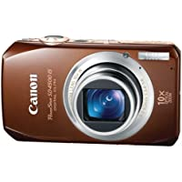Canon PowerShot SD4500 IS 10 MP CMOS 10x Optical Image Stabilized Zoom with Full-HD Video and 3.0-Inch LCD Digital Camera (Brown) (OLD MODEL) Noticeable Review Image