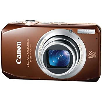 Canon PowerShot SD4500 IS 10 MP CMOS 10x Optical Image Stabilized Zoom with Full-HD Video and 3.0-Inch LCD Digital Camera (Brown) (OLD MODEL)