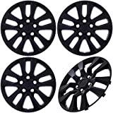 Cover Trend (Set of 4) Black Matte Aftermarket 16' Inch Hubcaps fits Nissan Altima, Quest - Replica Snap-On Wheel Covers