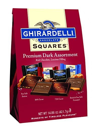 (Ghirardelli Dark Assorted Sqaures XL Bag, 14.85 Ounce by Ghirardelli)