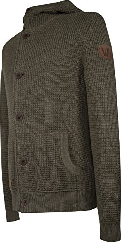 Musterbrand World of Warcraft Cardigan tricoté Homme Heritage Wool Hoodie Marron