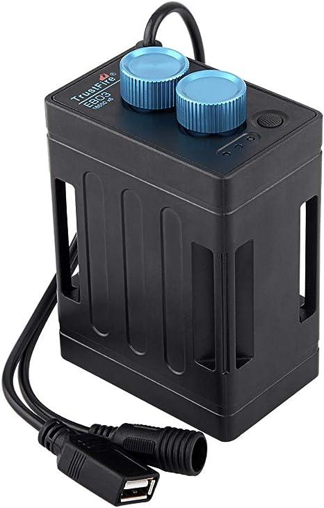 Lilideni EB03 Impermeable 6 X 18650 Batería Banco de energía Caja ...