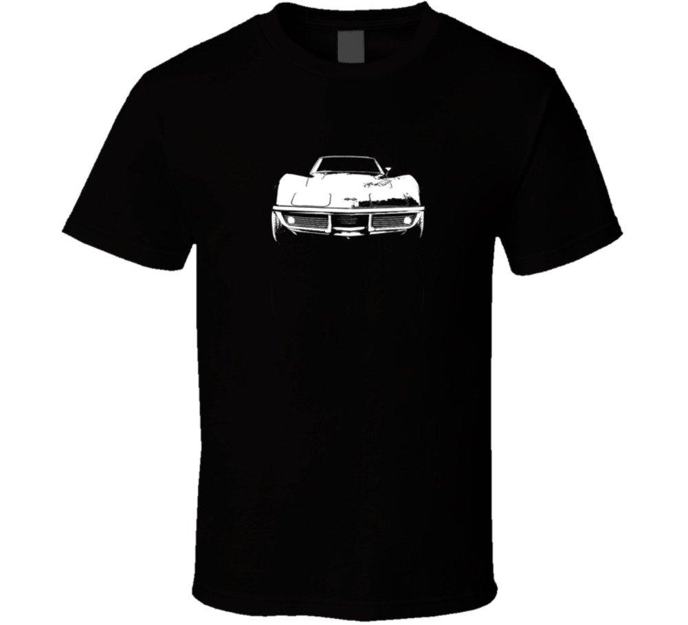 Cargeektees Com 1969 Corvette Grill View Dark Color T Shirt 5998