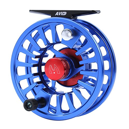 Maxcatch Avid Fly Fishing Reel with CNC-machined Aluminum Alloy Body 3/4,5/6, 7/8wt (Silver,Black,Blue,Green) (Blue, 7/8 wt)