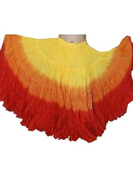 f31382f63d Dancers World - Falda de algodón para Mujer Gypsy de 25 Yardas Yellow  Orange Red One Size UK 10-24 - Length 36 37inch Approx  Amazon.es  Ropa y  accesorios