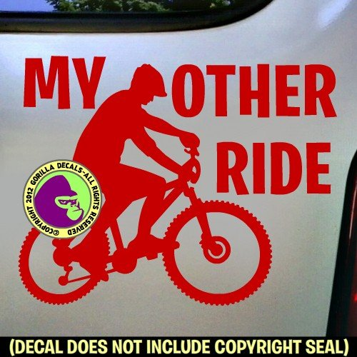KEEP PEDALING Mountain Unicycle Vinyl Decal Sticker E