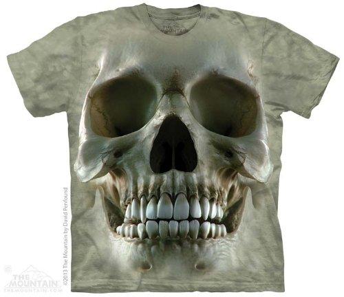 The Mountain Big Face Skull Adult T-Shirt, Green, XL