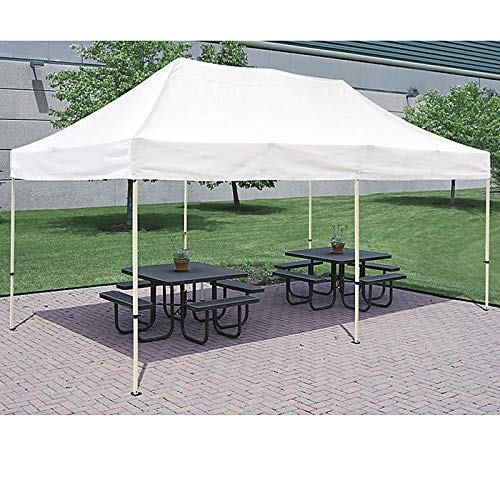 SNAIL 10 x20 Straight Leg Pop Up Canopy Tent with Heavy Duty Aluminum Frame and Waterproof 420 Top, Portable Commercial Instant Canopy Shelter with Carry Bag, White