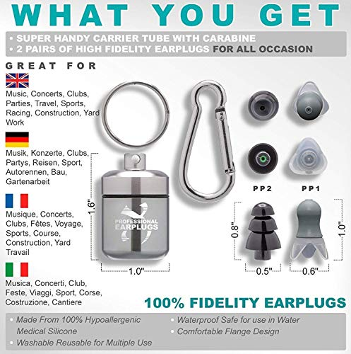 Noise Cancelling Ear Plugs for Sleeping - High Fidelity Silicone Earplugs Musicians' by CRIOXEN (Image #1)