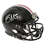 Braxton Miller Autographed Ohio State Black Speed Mini Helmet - Red Decal - Certified Authentic