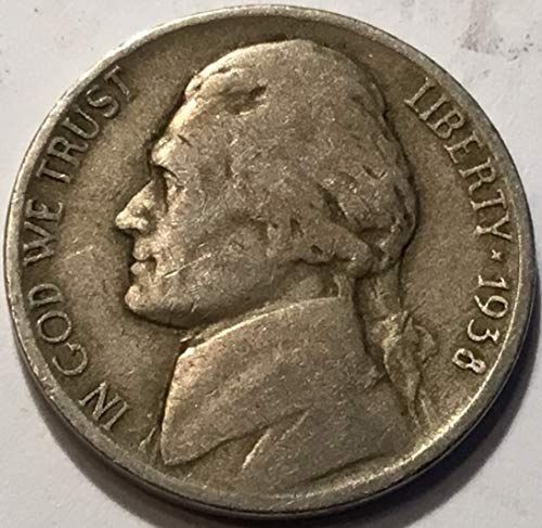 1938 Jefferson Nickel - 1938 D Jefferson Five Cents Nickel Choice Very Fine Details