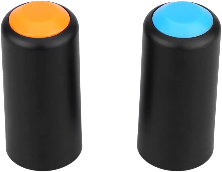 ammoon 2 Colors Battery Screw On Cap Cup Cover for Shure PGX Wireless Handheld Mic Microphone