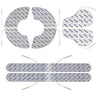 5 elektrod do tens ems- zestaw na ból pleców, karku i szyi i barków - przyłącze na kabel 2mm