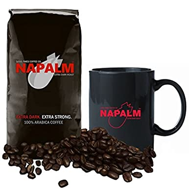 Napalm Coffee, EXTRA DARK ROAST, Bagged Coffee, 12 Ounce Bag - GIFT SET