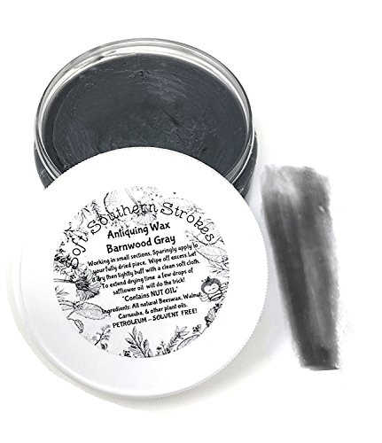 Antiquing Wax, Decorative Soft Dark Finishing Wax for Chalk Painted Furniture, Art and Crafts 2 oz Barnwood Gray from Soft Southern Strokes