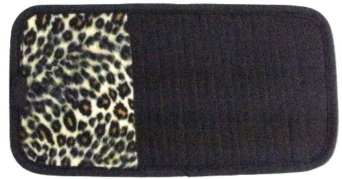 Tan Cheetah Animal Print 10 CD/DVD Car Visor Organizer