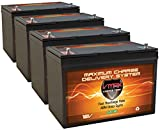 QTY4 VMAX SLR100 AGM deep cycle SLA battery 12 Volt 100Ah ea.(400Ah total) Maintenance free sealed batteries for Use with PV Solar Panels, wind turbine, UPS backup generator or smart charger for off grid sump pump lift winch pallet jack and any other heav