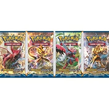 Pokemon XY9 Breakpoint Sealed Booster Pack x 4: Amazon.es ...