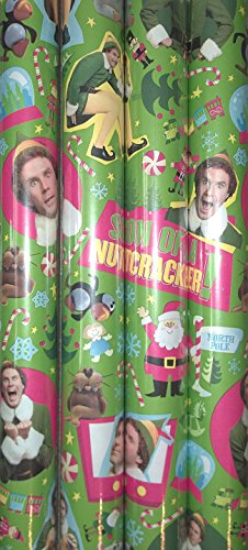 Elf the Movie Will Ferrell Christmas Gift Wrap 40 Square Feet