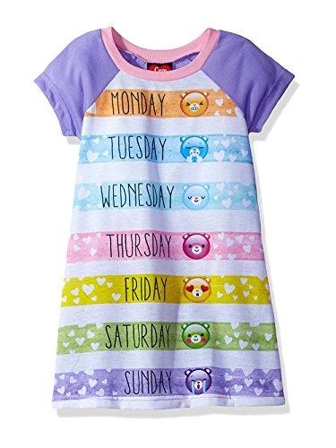 Care Bears Girls Nightgown Pajamas (6, Care Bears ()