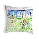 Betsy Drake Polyester Throw Pillows Front Yard Garden No Cord Pillow 18X18 18 X 6 X 18 Inches Multicolored