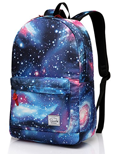 Price comparison product image Galaxy backpack,Vaschy Lightweight College School Backpack for Teen Girls