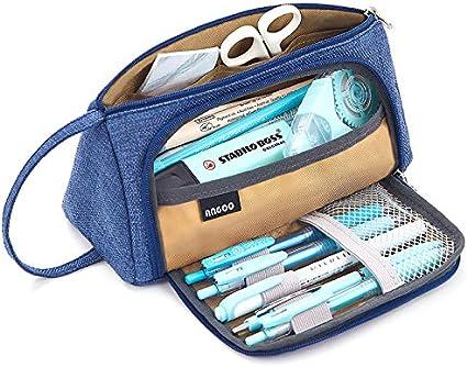 EASTHILL Estuche para lápices de gran tamaño para estudiantes, oficina, colegio, escuela media, gran almacenamiento, fácil de usar: Amazon.es: Oficina y papelería