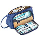 Big Capacity Pencil Pen Case Student Office College Middle School High School Large Storage Blue Purple--EASTHILL