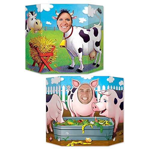 Beistle Barnyard Friends Photo Property, 3-Feet 10-Inch by 25-Inch, Multicolor - Barnyard Birthday Themes