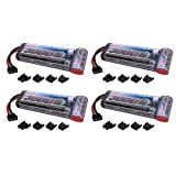 Venom 8.4V 3000mAh 7-Cell NiMH Battery Flat with Universal Plug (EC3/Deans/Traxxas/Tamiya) x4 Packs