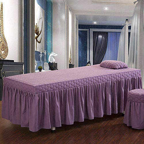 YXLJYH European style Solid color Beauty Bed cover Massage table sheet sets...
