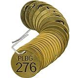Brady 23439, Stamped Brass Valve Tag, (10 Packs of 25 pcs)
