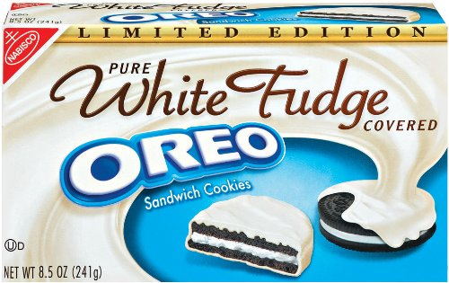 Oreo White Fudge Covered Chocolate Sandwich Cookies 8 5 Ounce Boxes Pack Of 6