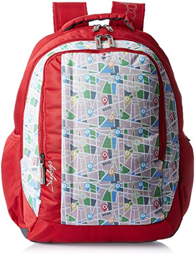 Skybags Helix 29.5 Ltrs Red Casual Backpack (BPHELFS3RED)